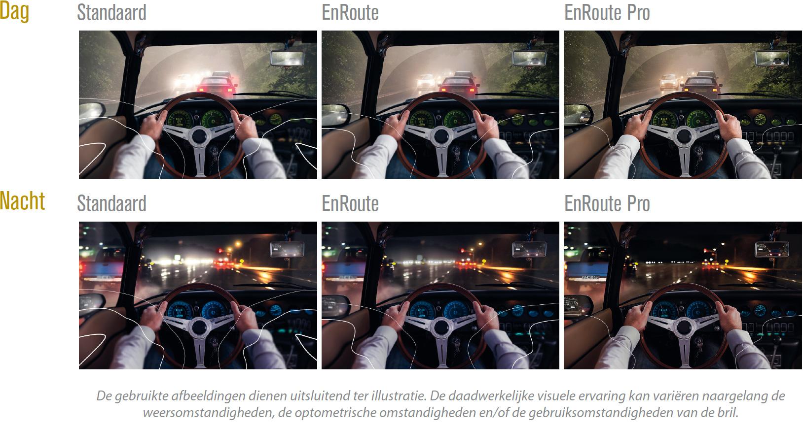 ENROUTE: brillenglazen die afrekenen met hinderlijk licht in het verkeer